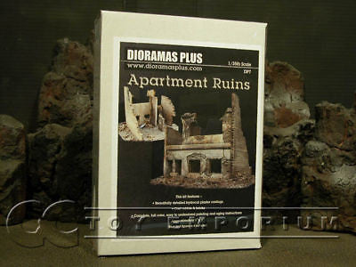 """BRAND NEW"" Dioramas Plus 1:35 Deluxe Two Story Apartment Ruin Kit"