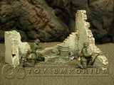 """Retired"" Build-a-Rama 1:32 Hand Painted  Desert Destroyed Wall"