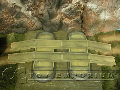 """RETIRED & BRAND NEW"" Build-a-Rama 1:32 Hand Painted WWII Pontoon Bridge Set (10 Piece Set)"