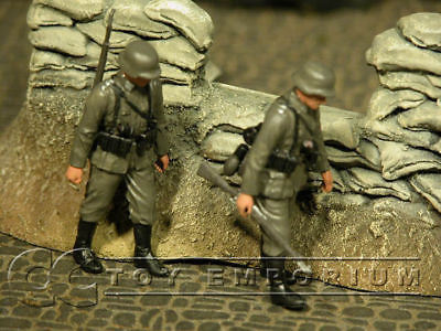 """BRAND NEW"" Custom Built - Hand Painted 1:35 WWII German Infantry Soldier Set (2 Figure Set)"