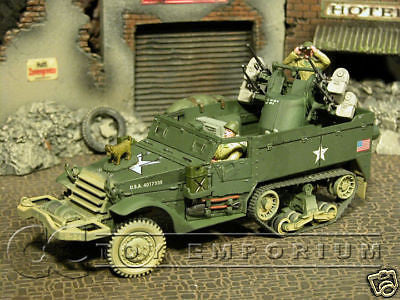 """RETIRED"" Forces Of Valor 1:32 Scale ""D-Day Series"" US M16 Multiple Gun Half Track"