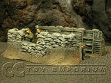 """RETIRED & BRAND NEW"" Build-a-Rama 1:32 Hand Painted WWII Trench Command Section"