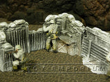 """RETIRED & BRAND NEW"" Build-a-Rama 1:32 Hand Painted WWII ""Winter"" Trench Command"