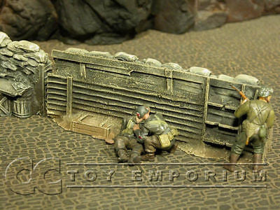 """RETIRED & BRAND NEW"" Build-a-Rama 1:32 Hand Painted WWII High Trench Wall"