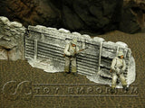 """RETIRED & BRAND NEW"" Build-a-Rama 1:32 Hand Painted WWII ""Winter"" High Trench Wall"