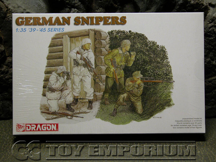 """BRAND NEW"" Dragon Models 1:35 Scale Deluxe WWII ""German Snipers"" Model Kit"