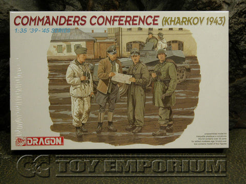 """BRAND NEW"" Dragon Models 1:35 Scale Deluxe WWII ""German Commander's Conference"" Model Kit"