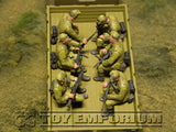 """BRAND NEW"" Custom Built - Hand Painted & Weathered 1:35 WWII German ""DAK Infantry Sitting"" (6 Figure Set)"