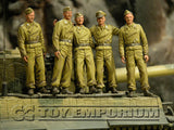 """BRAND NEW"" Custom Built - Hand Painted & Weathered 1:35 WWII German ""DAK Tiger 1 Tank Crew"" Soldier Set (5 Figure Set)"