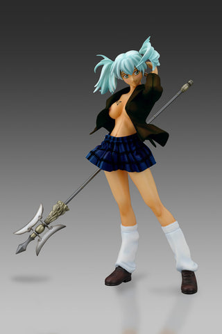 """VERY RARE"" Ikki Tousen 1/7 ""Sexy Ryofu Housen - SIF Exclusive LTD/Blue Plaid Skirt w/Tattoo CASTOFF"" VARIANT MINT"