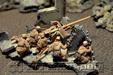 """BRAND NEW"" Custom Built - Hand Painted & Weathered 1:35 WWII German Pak 38 with 5 Winter Crew"