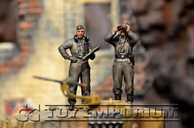 """BRAND NEW"" Custom Built - Hand Painted & Weathered 1:35 WWII Deluxe ""German Panzer Tank Crew"" Set  (5 Figure Set)"
