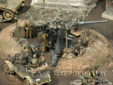 """RETIRED & BRAND NEW"" Build-a-Rama 1:32 Deluxe WWII Gun Emplacement w/Net Set (7 Piece Set)"