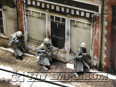 """BRAND NEW""  Build-a-Rama Deluxe WWII ""Photo Real"" Winter Color Facade #2 w/Sidewalk"