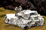 """RETIRED & BRAND NEW"" Build-a-Rama Deluxe Custom Built 1:32 WWII Large Resin ""Winter"" Rock Formation #1"
