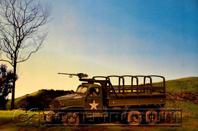 """RETIRED"" Build-a-Rama 1:32 Deluxe WWII Color Back Drop"