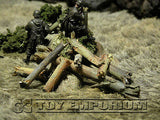 """RETIRED & BRAND NEW"" Build-a-Rama 1:32 Hand Painted WWII ""Deluxe Blasted Tree Parts"" Set (Aprox 5 Piece Set)"
