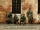 """BRAND NEW"" Custom Built - Hand Painted & Weathered 1:35 WWII German ""LAH Division"" Soldier Set (4 Figure Set)"