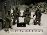 """BRAND NEW"" Custom Built - Hand Painted & Weathered 1:35 WWII German ""Winter"" Combatants Soldier Set  (4 Figure Set)"