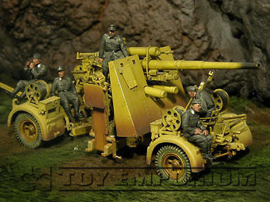 """BRAND NEW"" Custom Built - Hand Painted & Weathered 1:35 WWII German ""88 Crew Riders"" Set (5 Figure Set)"