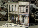 """BRAND NEW""  Build-a-Rama Deluxe WWII ""Photo Real"" Color Facade #3 w/Sidewalk Set"