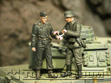 """BRAND NEW"" Custom Built - Hand Painted & Weathered 1:35 WWII German SS & Medic Soldier Set (2 Figure Set)"
