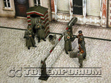 """BRAND NEW"" Custom Built - Hand Painted & Weathered 1:35 WWII German Check Point Soldier Set w/ Gate & Guard Post (6 Figure Set)"