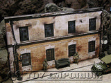 """BRAND NEW""  Build-a-Rama Deluxe WWII ""Photo Real"" 2 Story  Factory w/Sidewalk Set"