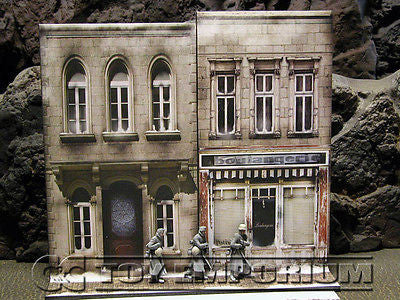 """BRAND NEW""  Build-a-Rama Deluxe WWII ""Photo Real"" Winter Color Facade #3 w/Sidewalk"