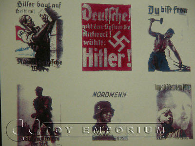 """BRAND NEW"" Build-a-Rama 1:32 WWII Deluxe German Poster Set (9 Piece Set)"