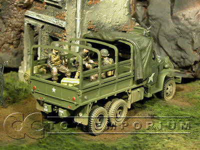 """RETIRED"" Forces Of Valor ""D-Day Series"" WWII US 2.5 Ton Truck w/3 Soldiers"