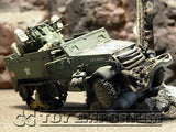 "VERY RARE!  Forces Of Valor Custom ""Battled Damaged"" WWII US M16 ""MG"" Half Track"