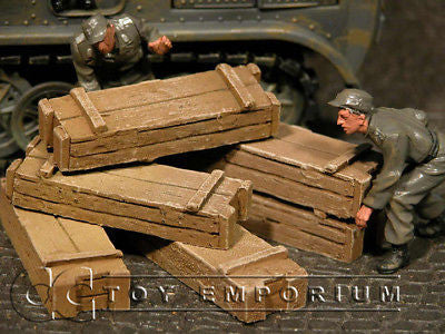 """RETIRED & BRAND NEW"" Build-a-Rama 1:32 Hand Painted WWII Crate Set- Medium"
