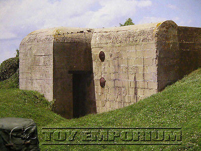"""RETIRED""  Build-a-Rama 1:32 Scale Deluxe WWII  ""Normandy  Bunker - 7"" Color Back  Drop"