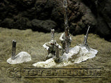 """RETIRED & BRAND NEW"" Build-a-Rama 1:32 Hand Painted WWII Deluxe ""Winter"" War Torn Tree Terrain Set (3 Piece Set)"