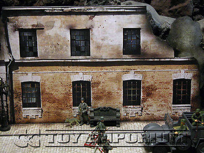 """BRAND NEW"" Build-a-Rama Deluxe WWII ""Photo Real""  2 Story  Destroyed Factory w/Sidewalk Set"