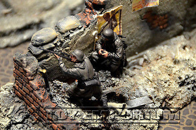 """BRAND NEW"" Custom Built - Hand Painted & Weathered 1:35 WWII Deluxe ""German Sniper Team"" Soldier Set (2 Figure Set)"