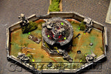 """BRAND NEW"" Pro Built 1:32 Deluxe LIGHTED Battle Damaged Fountain!"