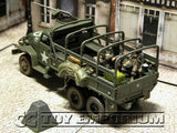"""RETIRED"" Forces Of Valor 1:32 Scale ""D-Day Series"" US  2.5 Ton Cargo Truck w/ FOUR  US Soldiers"