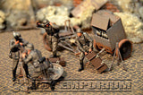 """BRAND NEW"" Custom Built - Hand Painted & Weathered 1:35 WWII Deluxe ""120mm Heavy Mortar Gun Crew"" Set (4 Figure Set)"