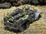"""RETIRED"" Forces Of Valor 1:32 Scale WWII German Kfz. 70  Personnel Carrier w/3 Soldiers"