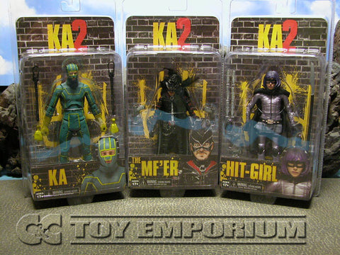 """BRAND NEW & SOLD OUT"" NECA Kick Ass 2 Series 1 Action Figure Set (3) MINT On Card"