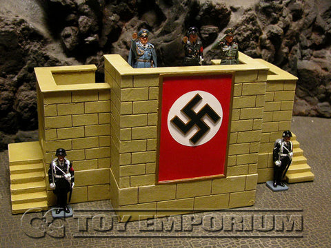 """RETIRED"" King & Country 1:30 ""Berlin 38 Series"" Deluxe Nuremburg Review Stand Set"