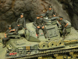 """BRAND NEW"" Custom Built - Hand Painted & Weathered 1:35 WWII German ""Tank Crew, France , 1940"" Soldier Set (5 Figure Set)"