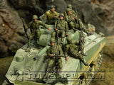 """BRAND NEW"" Custom Built - Hand Painted & Weathered 1:35 WWII US ""101st Paratrooper, France, 1944"" Soldier Set (7 Figure Set)"