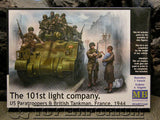 """BRAND NEW"" Master Box Models 1:35 Scale Deluxe WWII ""US 101st Paratrooper & British Tankman, France, 1944"" Model Kit"