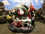 Disney's Nightmare Before Christmas RETIRED Jack Captures Santa Claus Snowglobe