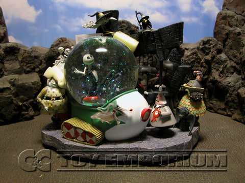 Disney's Nightmare Before Christmas RETIRED Jack Snow Mobile & Friends Snowglobe