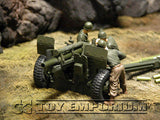 """RETIRED & ""BRAND NEW"" Forces Of Valor 1:32 Scale WWII US M2A1 105mm Howitzer & 3 Man Crew - France 44"