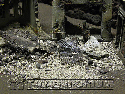 """RETIRED & BRAND NEW"" Build-a-Rama 1:32 Hand Painted WWII Deluxe Loose Rubble Set"